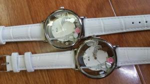 Đồng hồ 3D handmade mini 2058 White