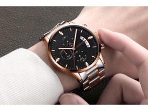 Đồng hồ nam NIBOSI chạy full kim chính hãng