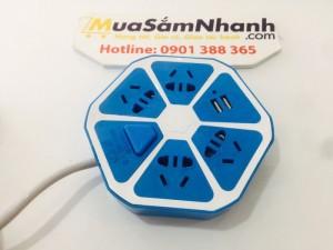 Ổ cắm điện trái cam đa năng - có cổng USB tiện lợi - Có khả năng cách điện ,an toàn + Tặng Kèm Đèn Led USB  - MSN383223
