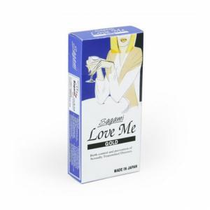 Bao cao su Sagami Love Me Gold (Hộp 10)