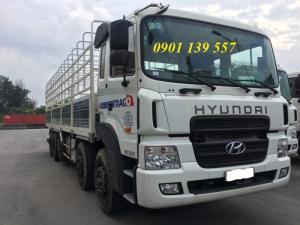 Xe tải HD360 thùng mui bạt, xe có sẵn giao ngay.