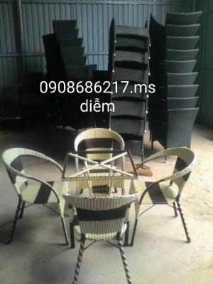 Bàn ghế mây cafe trực tiếp sản xuất