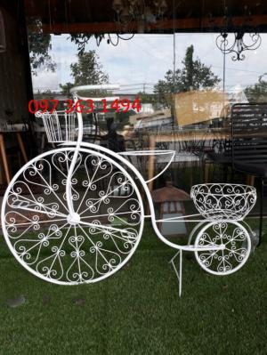 Xe đạp mỹ thuật sắt dành để trang trí