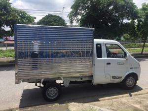 Xe tải Thái Lan 800kg cabin đôi, thùng kín