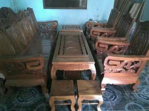 Bộ ghế salong tay vuông.