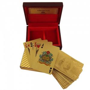 Bộ bài cao cấp mạ vàng 999.9 Gold Playing Cards - Hàng Mỹ