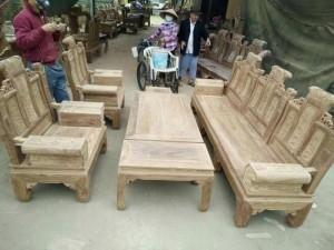 Bàn ghế gỗ hương vân hộp quấn thư 6 món