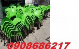 Ghế nhựa cafe màu xanh hy vọng, xanh thiên nhiên hàng chất lượng