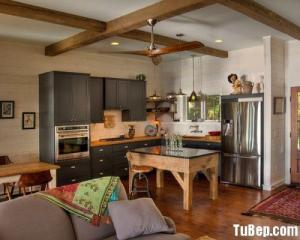 Tủ bếp gỗ tự nhiên cho nhà chung cư– TBN0034