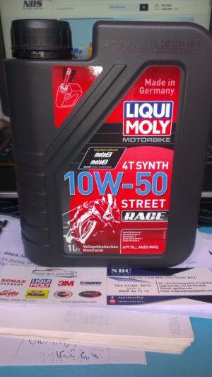 Nhớt Tổng hợp hoàn toàn Liqui Moly cho xe số 4T MOTORBIKE STREET RACE 4T 10W-50