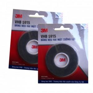Băng keo 2 mặt siêu dính 3M VHB 5915 12mmx5m, 100% keo Acrylic Độ Bên Cực Cao - MSN388256
