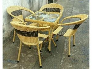 Bộ bàn ghế cafe ngoài trời giá rẻ