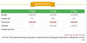 Bảng giá VIP 3