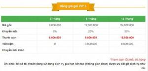 Bảng giá VIP 5