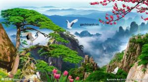 Tranh phong cảnh - gach tranh 3d