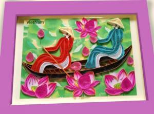 Tranh giấy xoắn nghệ thuật kích thước 20x 25 cm
