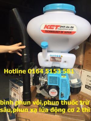 Máy phun vôi 3 chức năng KCT phun thuốc trừ sâu,phun xạ lúa ngô,phun thổi lá