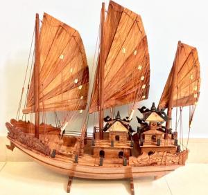 Mỹ nghệ gỗ (mô hình thuyền Hạ Long 60cm)