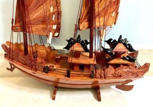 Mỹ nghệ gỗ (mô hình thuyền Hạ Long 40cm)