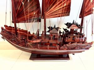 Mỹ nghệ gỗ (mô hình thuyền Hạ Long 80cm)