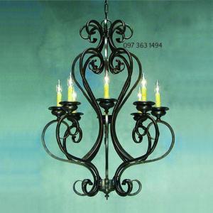 Đèn chùm sắt trang trí cho sự chọn lựa táo bạo