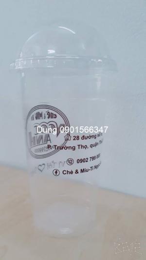 In logo ly nhựa dùng đựng cafe