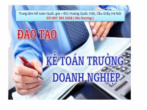 Đào tạo kế toán trưởng Doanh nghiệp và Hành chính sự nghiệp