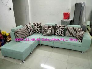 Sofa góc phòng khách sang trọng - Tặng kèm bàn kính đồng bộ