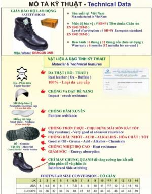 Giày bảo hộ cao cổ Dragon 3NR