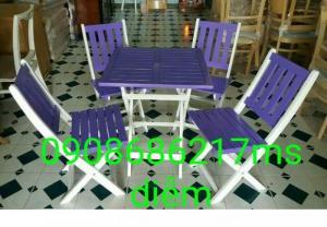 Bàn ghế gỗ trà sữa