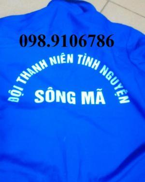 Áo xanh tình nguyện, mũ tai bèo, in fee, mũ lưỡi trai may in  theo yêu cầu