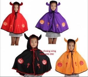 Áo choàng sừng: 160.000đ Áo choàng bằng vải dệt kim, dành cho bé trẻ 1-4 tuổi Có 4 màu như hình
