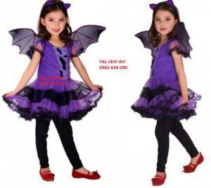 Váy cánh dơi: 320.000đ Gồm váy, cánh, bờm 3 Size M ( 110-120cm), L (120-130cm), XL ( 130-140cm)