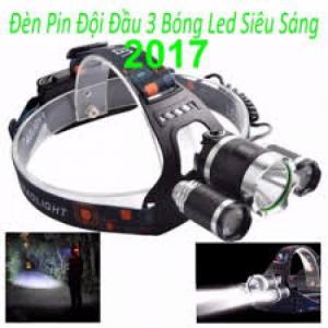 Sản phẩm được thiết kế với 3 đèn Pin siêu sáng