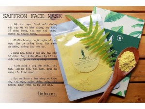 Saffron face mask
