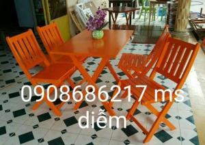 Bộ ghế gỗ cafe