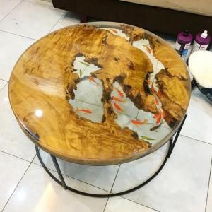 Đổ nhựa mặt bàn, làm mặt bàn phủ resin dày, mặt bàn vẽ 3d, mặt bàn phủ gương, đổ bóng mặt gỗ.