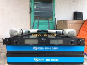 Micro không dây BOSA - BS 106W  độ bền cao kiểu dáng sang trọng