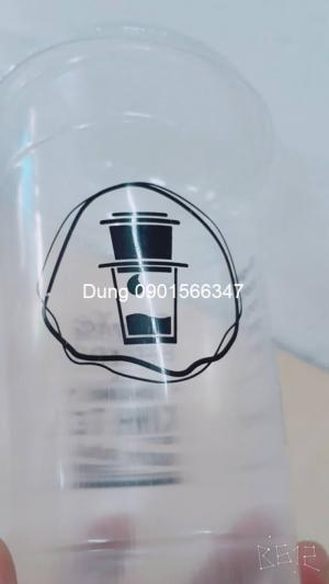 Ly nhựa PP 650ml in 1 màu