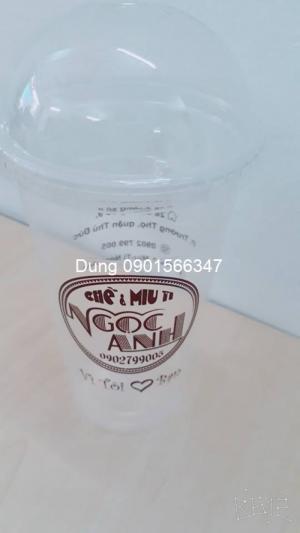 In logo ly nhựa sử dụng một lần