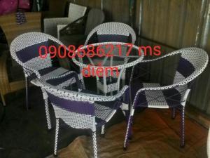 Bàn ghế mây thông dụng gía rẻ