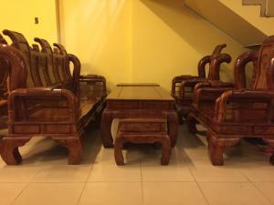 Bộ salon triện gỗ hương tần thủy hoàng - BBG455