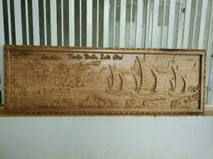 Tranh gỗ thuận buồm xuôi gió
