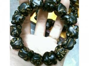 Vòng tay trầm hương  vân đá cực đẹp