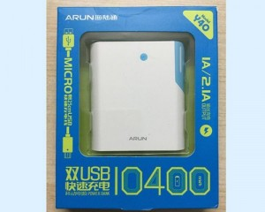 Sạc dự phòng Arun 10.400mAh Dung Lượng Chuẩn, Hỗ trợ 2 công USB - MSN181278