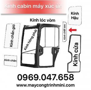 Kính Cabin máy xúc ủi