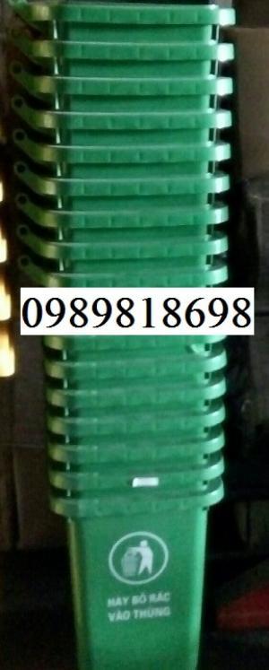 thùng rác 240 lit màu xanh