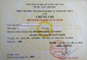 Đào tạo cấp chứng chỉ nghiệp vụ sư phạm TCCN