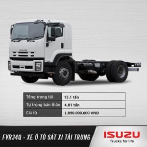 Xe tải trung ISUZU FVR34Q 9 tấn, 9T. Đại lý chính hãng. Hỗ trợ trả góp lãi suất ưu đãi.