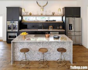 Tủ bếp gỗ Laminate có hệ thống lò vi sóng – TBT27